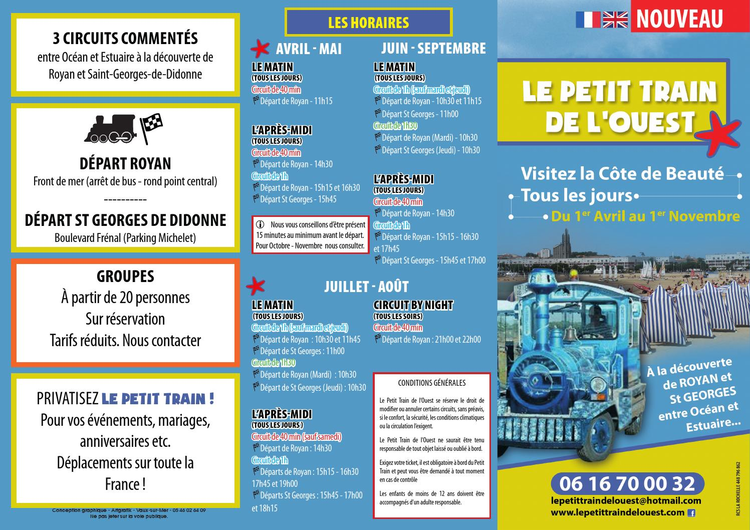 Le petit train de royan st georges 2015 by office de - Office de tourisme st georges de didonne ...