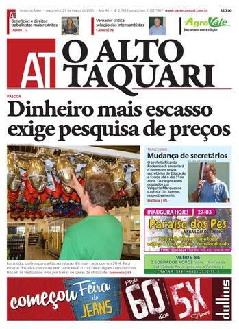 518597a0ff926 Jornal O Alto Taquari - 27 de março de 2015 by Jornal O Alto Taquari ...