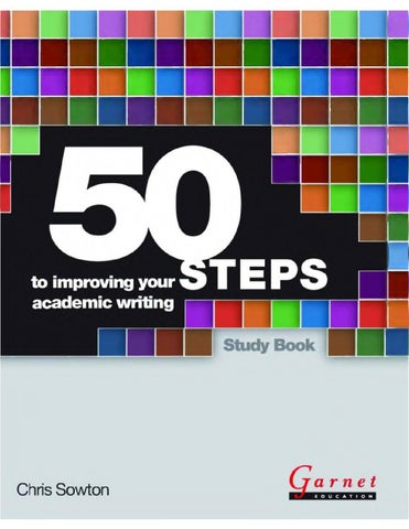 50 steps to improving your academic writing by Srinivasarao Gurram