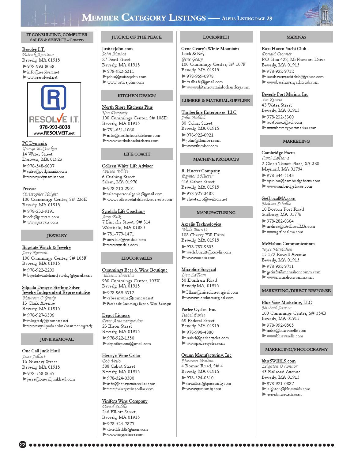 Greater beverly chamber of commerce 2015 business directory by greater beverly chamber of commerce 2015 business directory by john somes issuu floridaeventfo Gallery