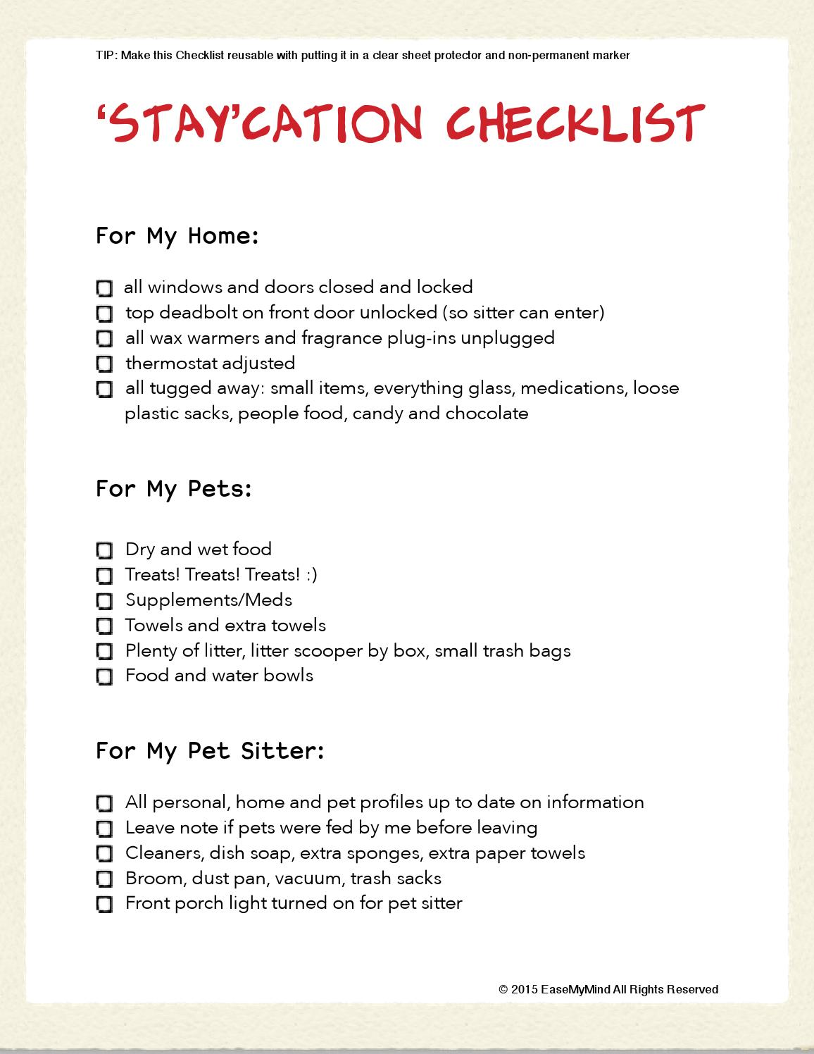 staycation checklist by daniela price issuu