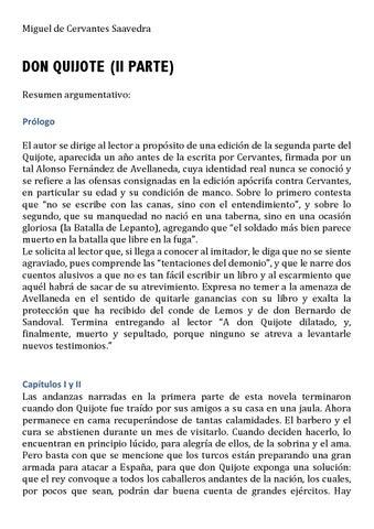 Quijote Resumen Ii Parte By Ana Beatriz Moline Juste Issuu