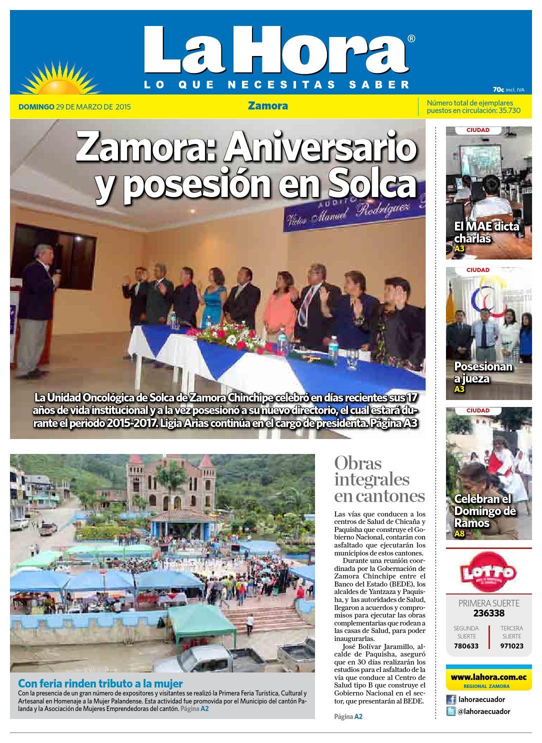 Diario La Hora Zamora 29 De Marzo 2015 By Diario La Hora Ecuador  # Pezzolano Muebles