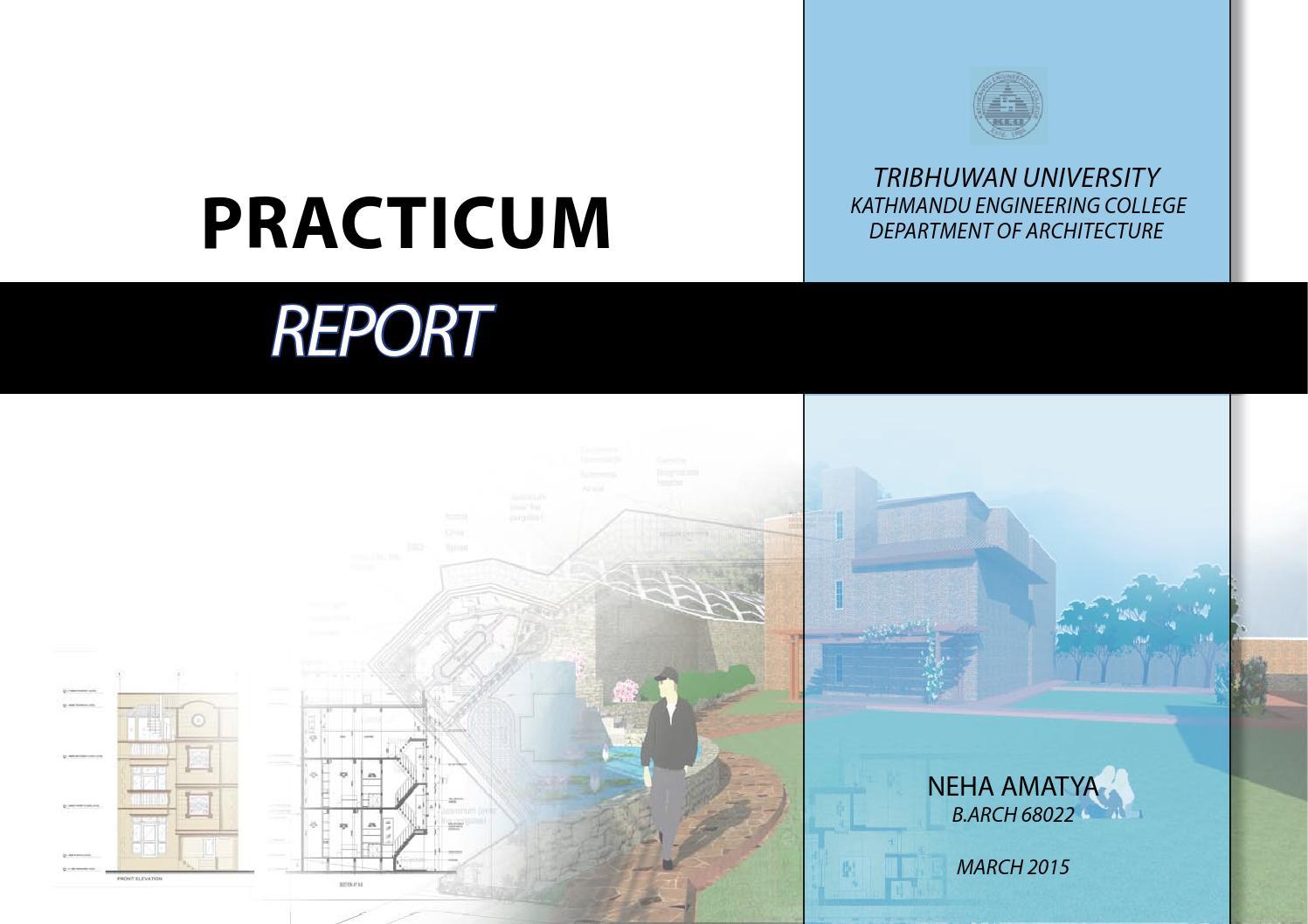 practicum report sample for hotel and restaurant management