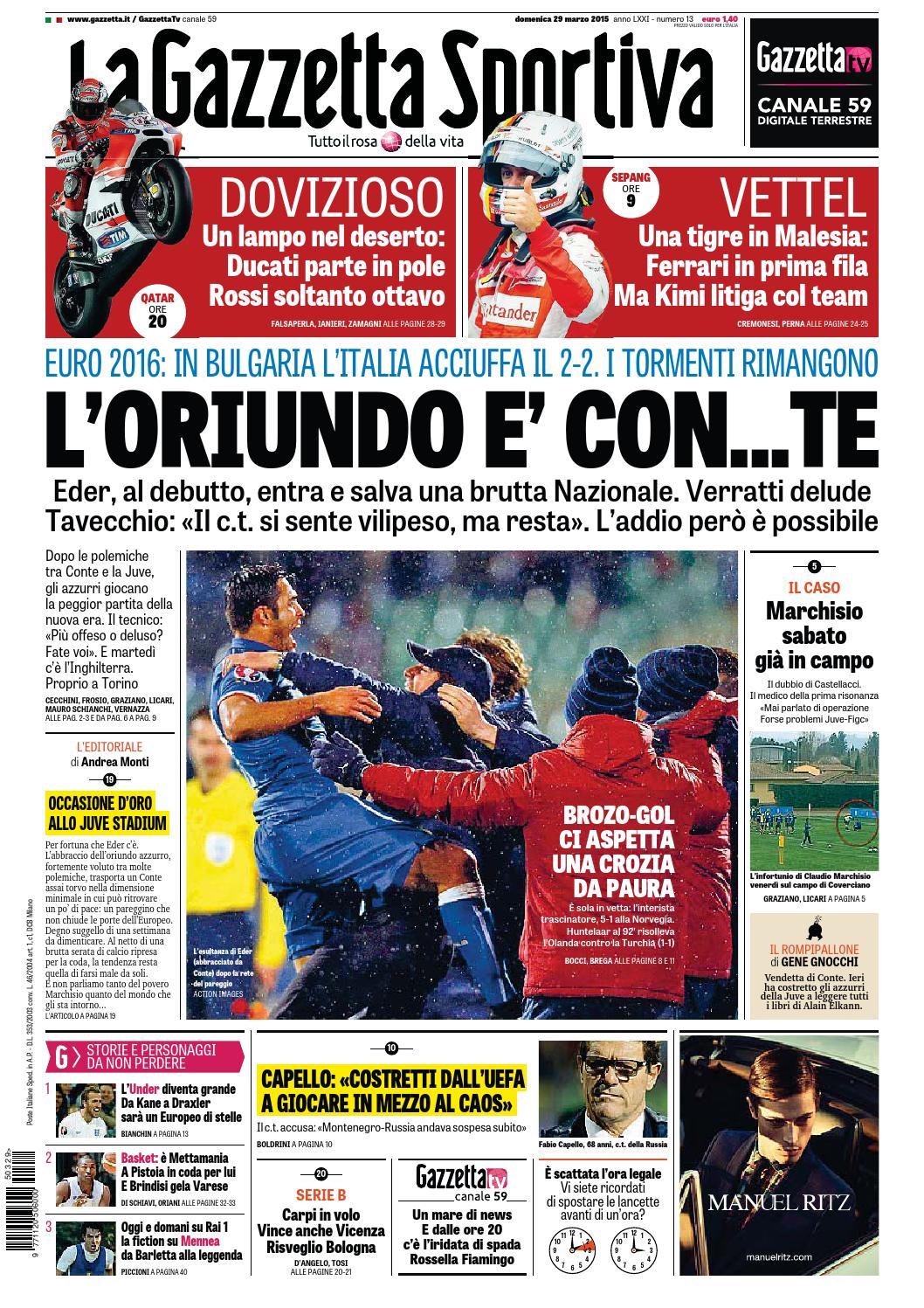 La Gazzetta dello Sport (03-29-2015) eb3ba19dad5c