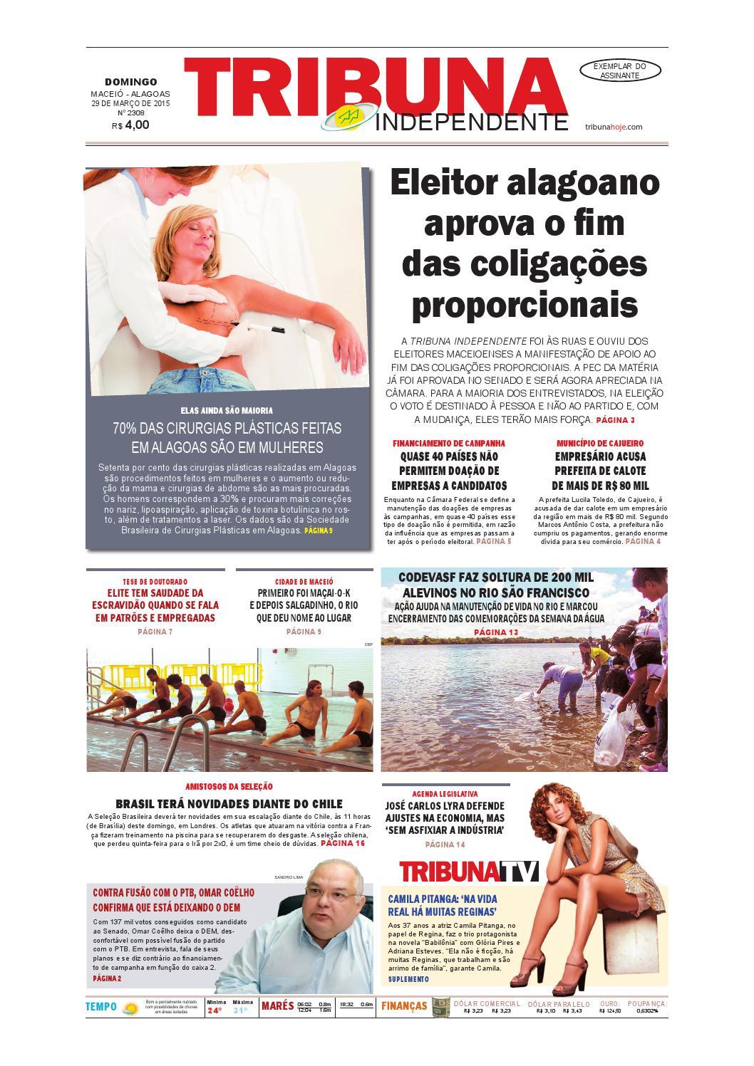 a4ded66ce1 Edição número 2308 - 29 de março de 2015 by Tribuna Hoje - issuu