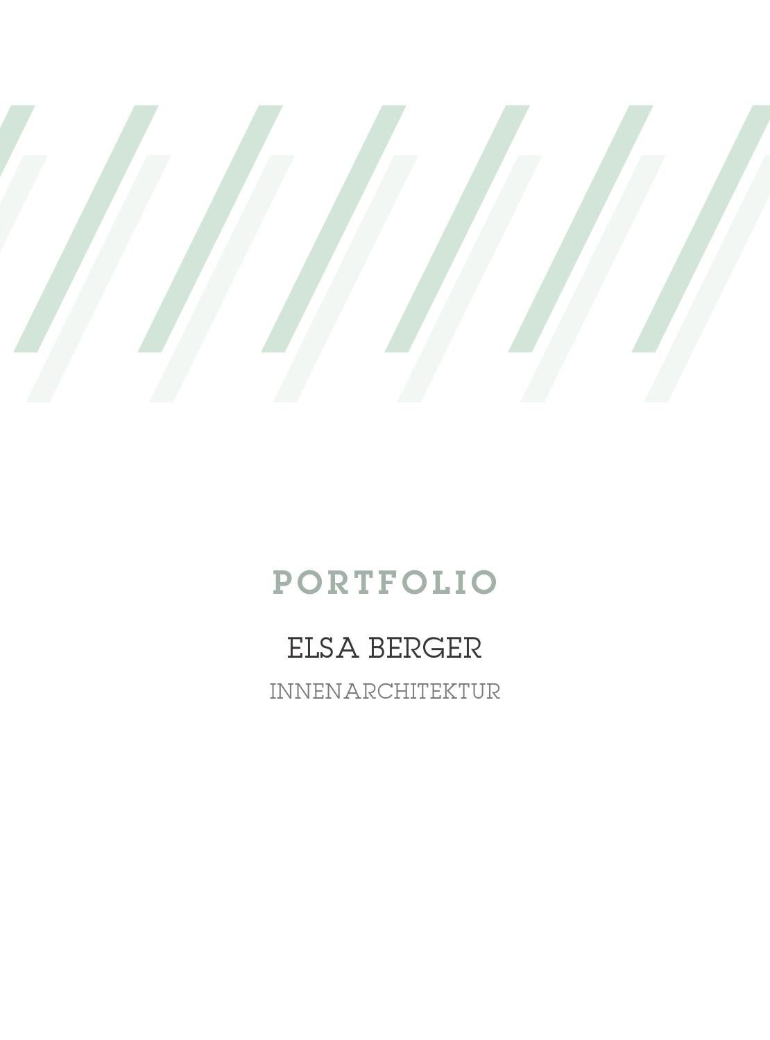 Portfolio elsa berger innenarchitektur by elsa berger for Innenarchitektur portfolio