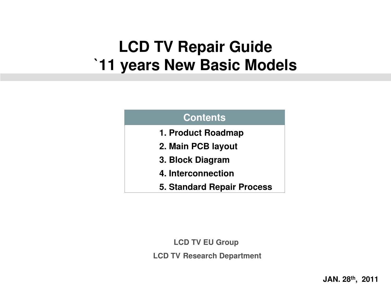 Lg Ld01u 47lw4500 47lw450 Led Lcd Tv Repair By Felipe Senra Issuu Schematic Tcon Board Or