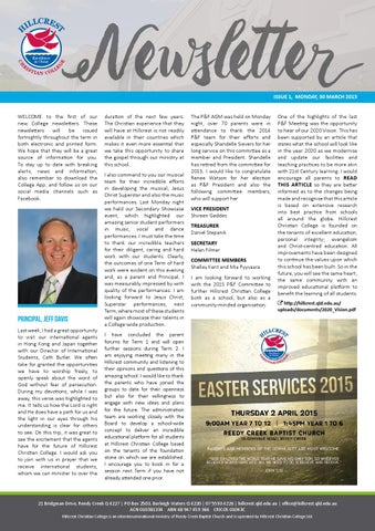 hillcrest christian college newsletter 30 march 2015 by hillcrest
