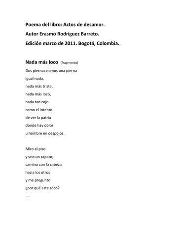 Poema Nada Más Loco By Erasmo Rodríguez Barreto Issuu
