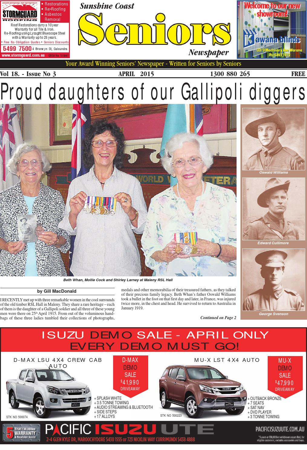 Sunshine Coast Seniors Newspaper April 2015 By Seniors Issuu
