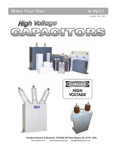 Make your own high voltage capacitor by Courtney Williams - issuu
