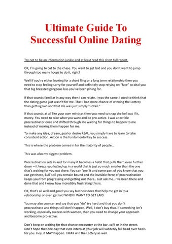 be successful online dating