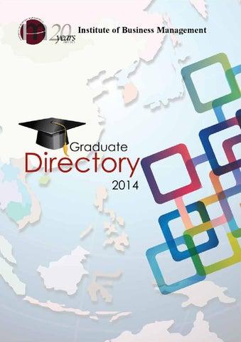 Graduate directory 2014 by IoBM - issuu