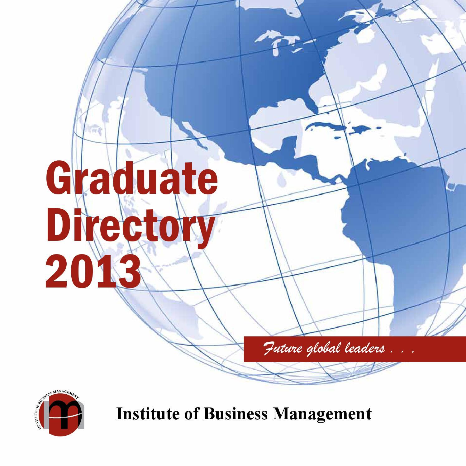Graduatedirectory iobm 2013 by IoBM - issuu