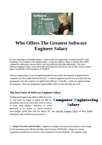 Who Offers The Greatest Software Engineer Salary by