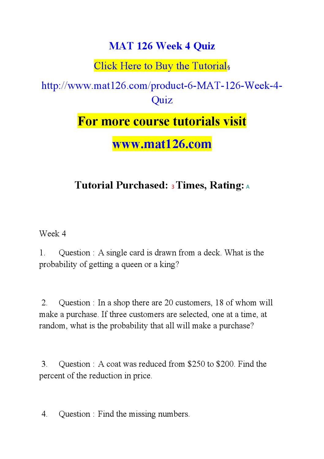 MAT 126 Week 1 Assignment Geometric and Arithmetic Sequence