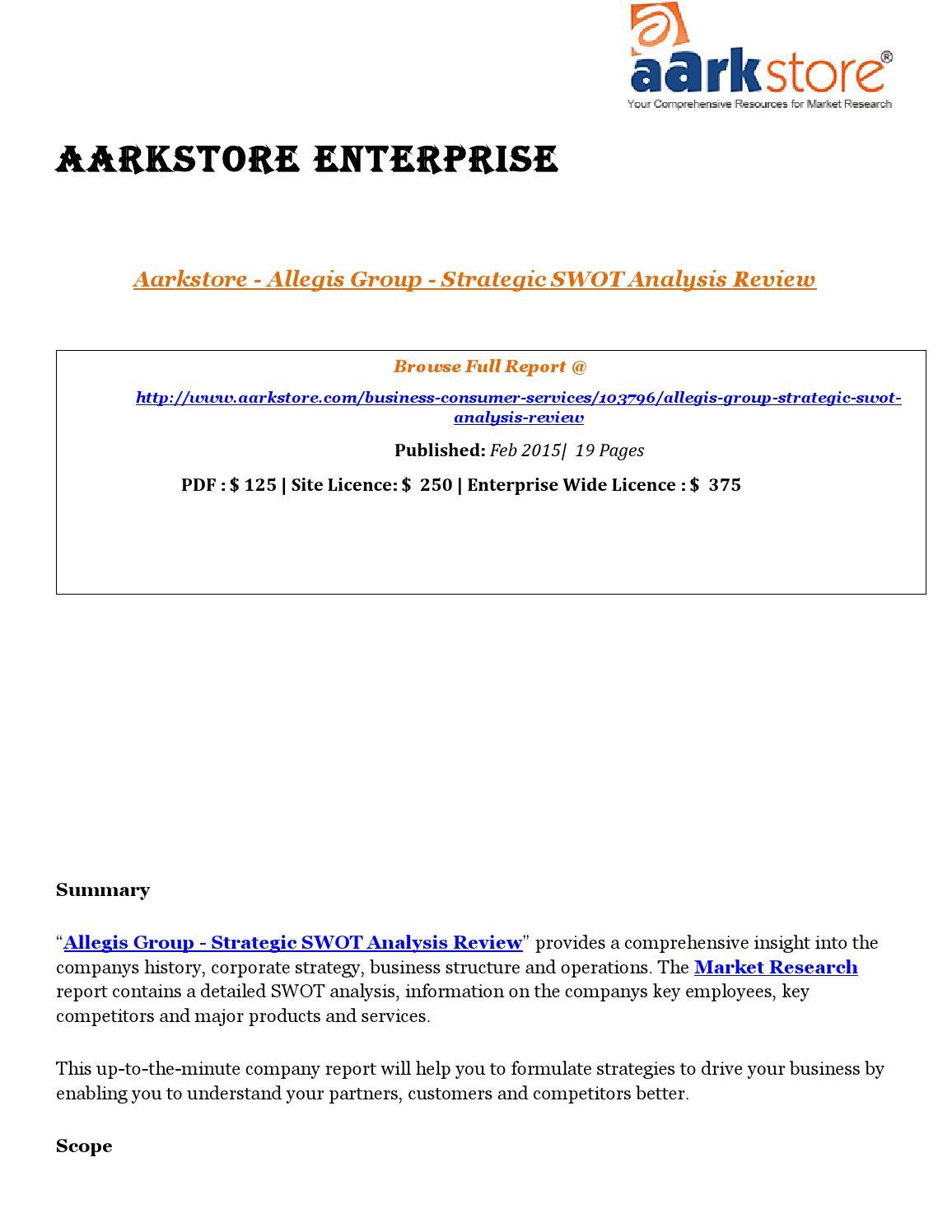 Aark Allegis Group Strategic Swot