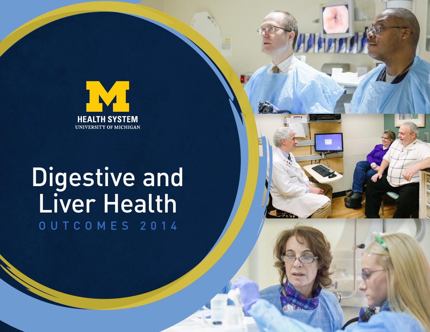 Digestive and Liver Health Outcomes 2014 by Michigan