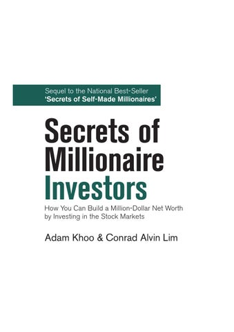 Secrets Of Millionaire Investors_Adam Khoo, Conrad Alvin Lim by