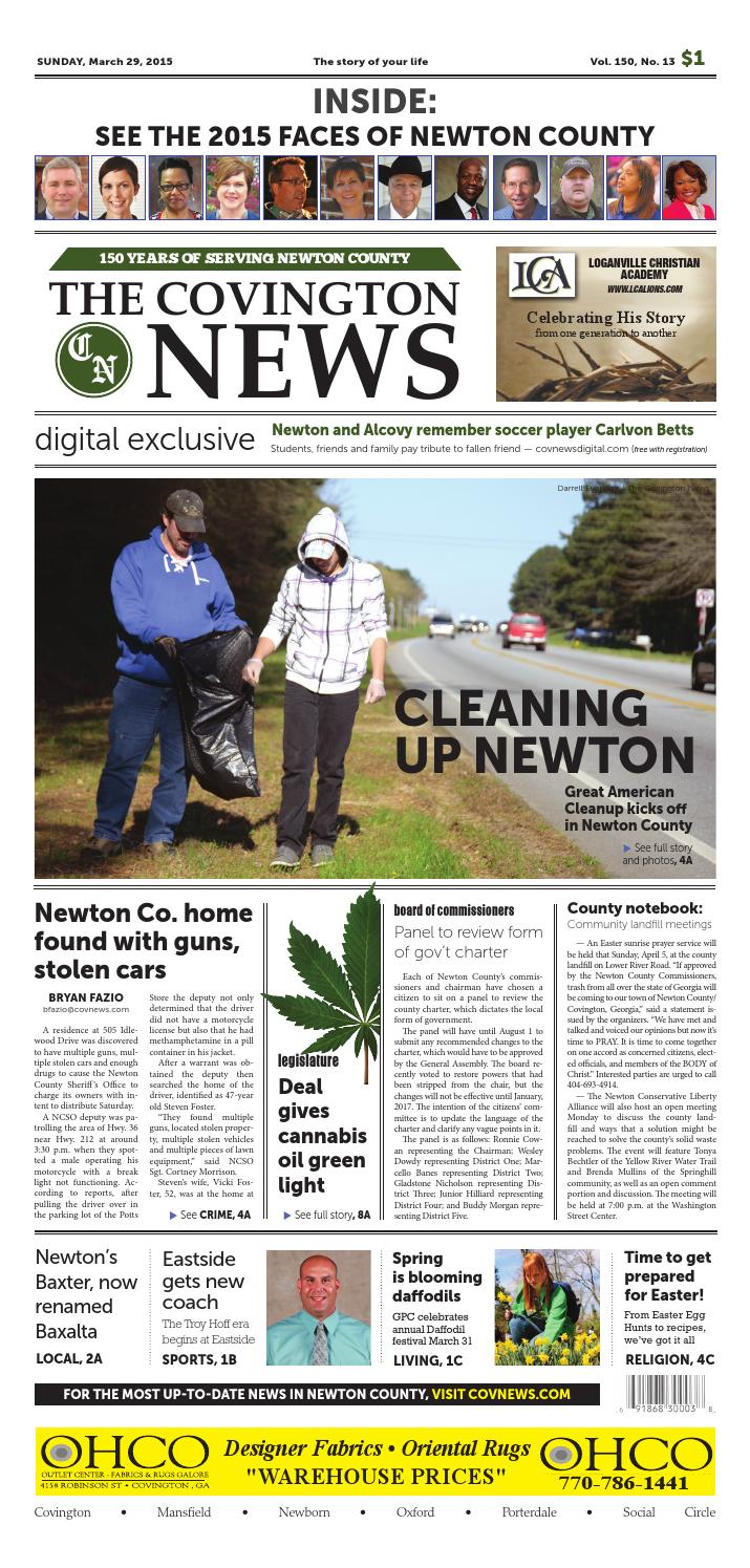 The Covington News Sunday March 29 2015 by Magazines Healthy In