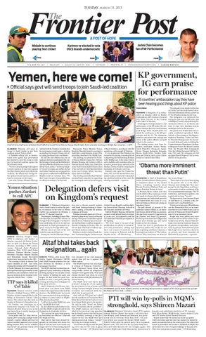 The Frontier Post E-Paper 21 March, 2015 by The Frontier Post - issuu