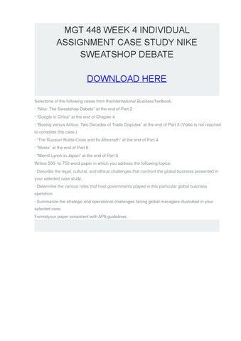 sweatshops are immoral essay