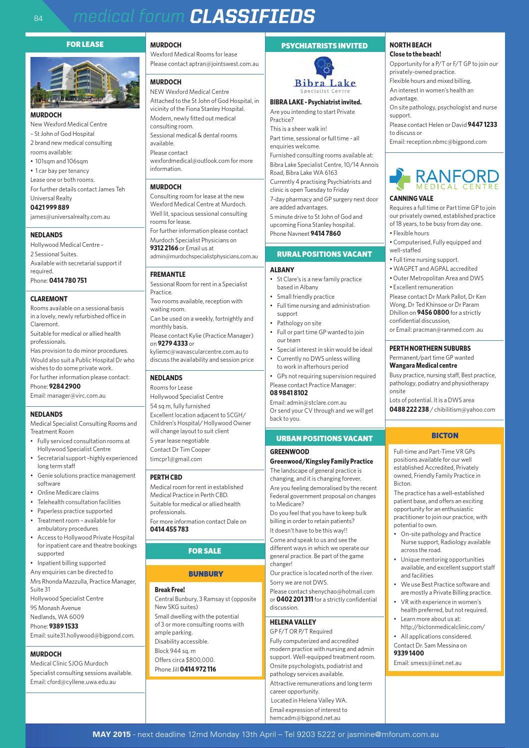 Medical Forum 04/15 Public Edition by Medical Forum WA - issuu