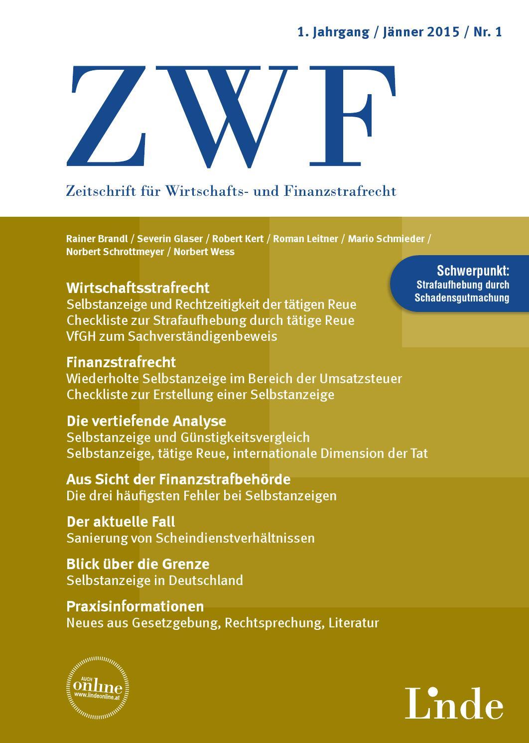 ZWF Heft 1 2015 by Linde Verlag GmbH - issuu