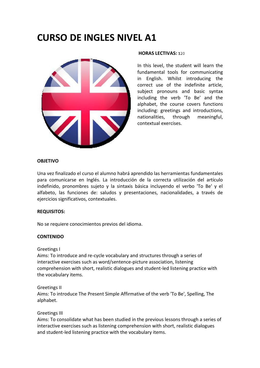 Curso De Ingles Nivel A1 By Actium Formacion Issuu