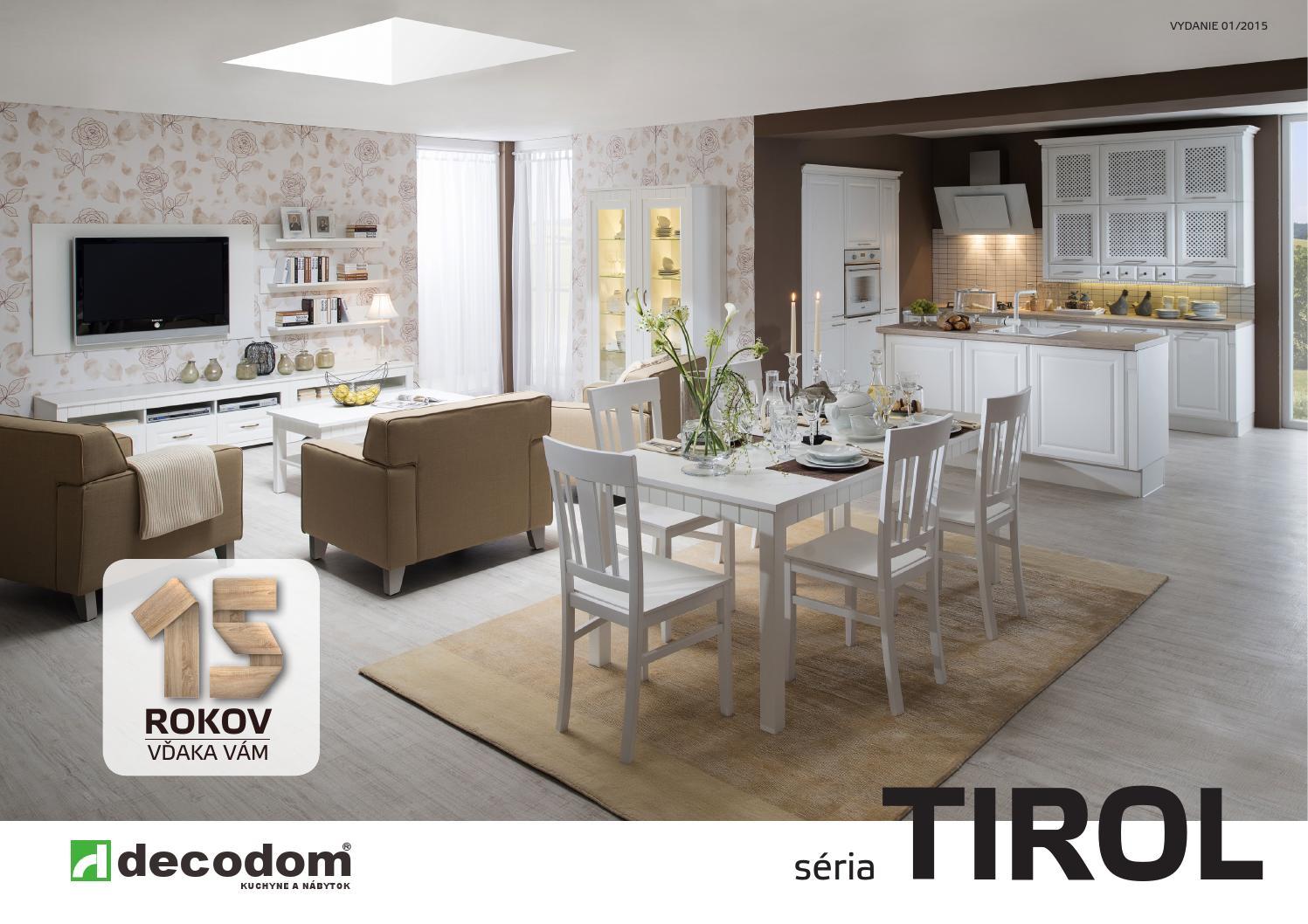 0e89895f79de Katalóg nábytkovej série TIROL by Decodom - Slovenský výrobca nábytku -  issuu