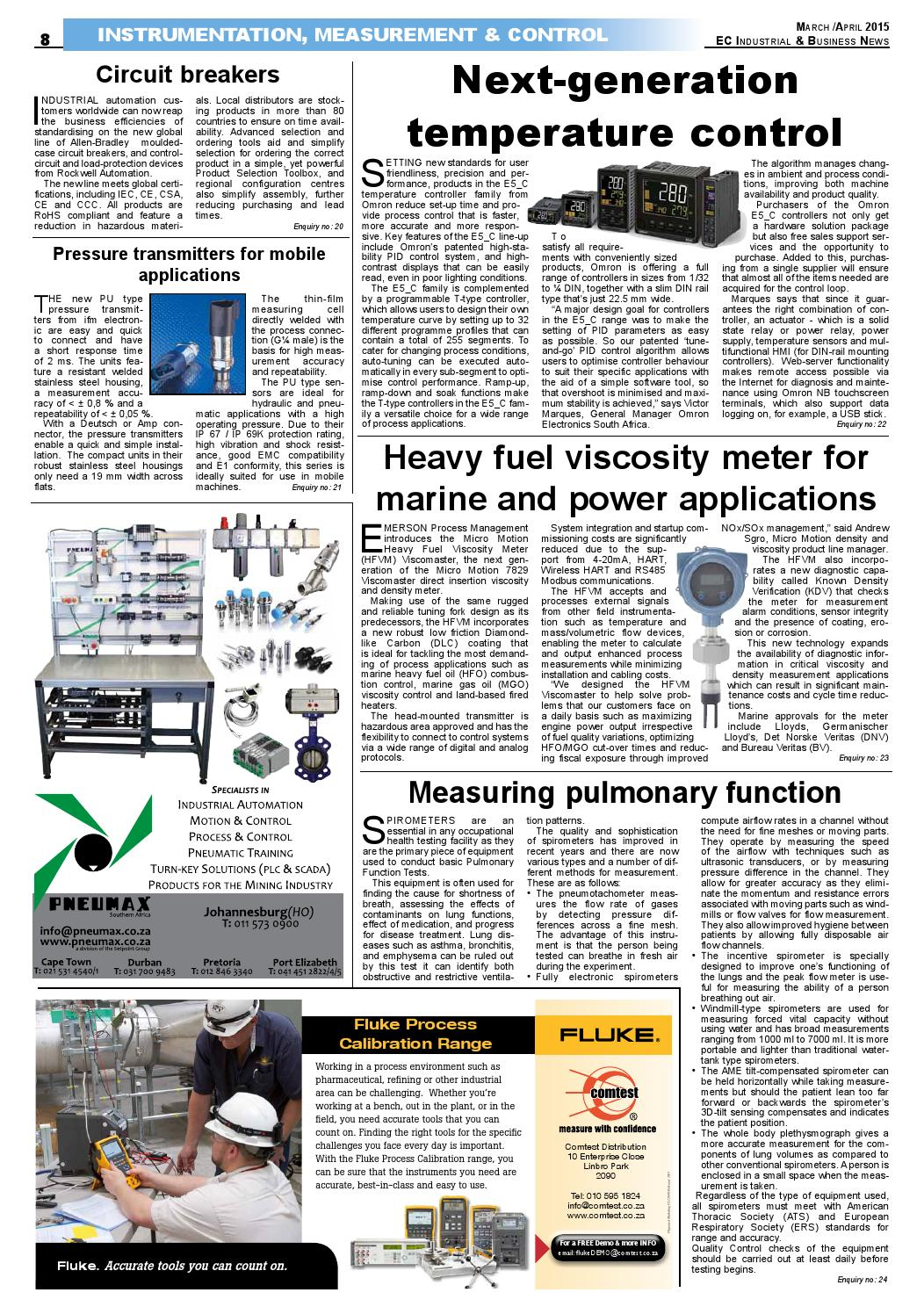 Ec Industrial Business News Issue 66 By The Media Events Company Hydraulic Pressure Control Circuit Controlcircuit Issuu