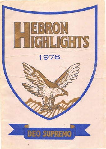 Hebron Highlights 1978 By Ken Pullen Issuu