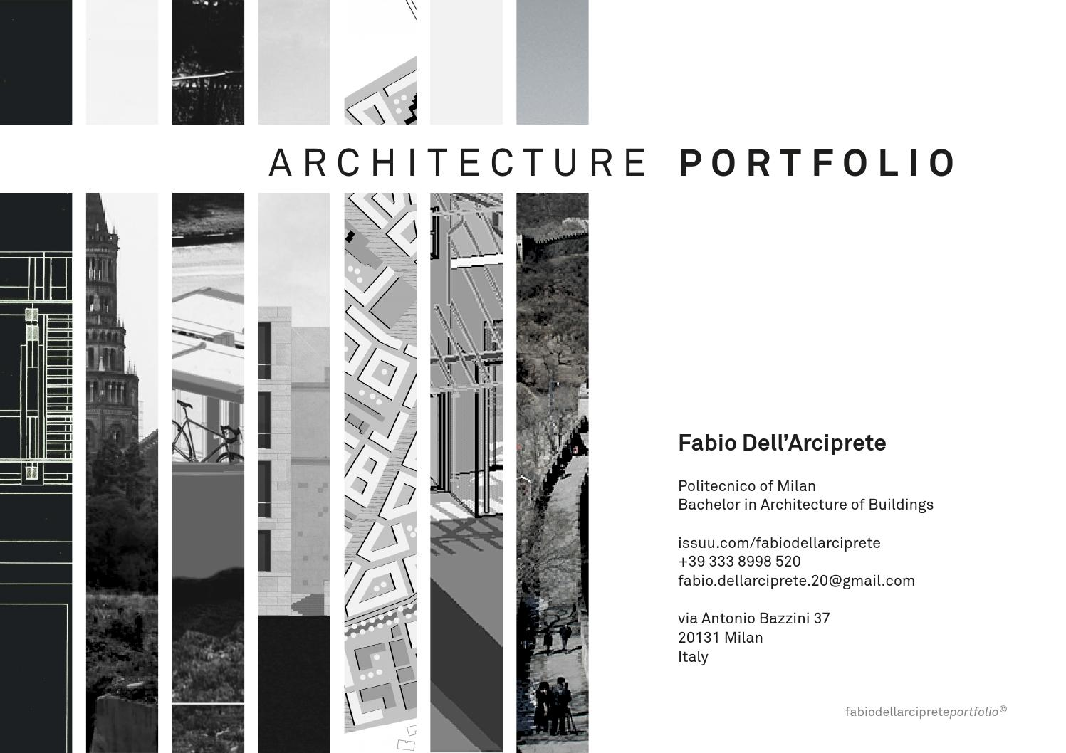Architecture portfolio by fabio dell 39 arciprete issuu for Architecture inde
