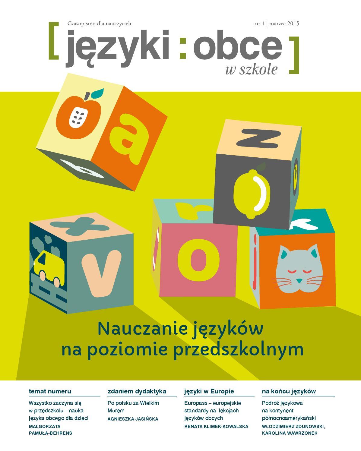 6de25687ae0be Języki Obce w Szkole nr 1/2015 by Fundacja Rozwoju Systemu Edukacji - issuu