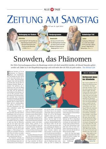 157. Ausgabe, ET 19.04.2014 by ZEITUNG AM SAMSTAG Verlags GmbH - issuu