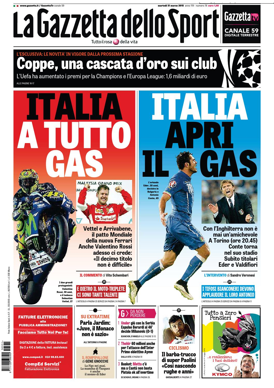 La Gazzetta dello Sport (03-31-2015) by Nguyen Duc Thinh - issuu d52c58aeb687