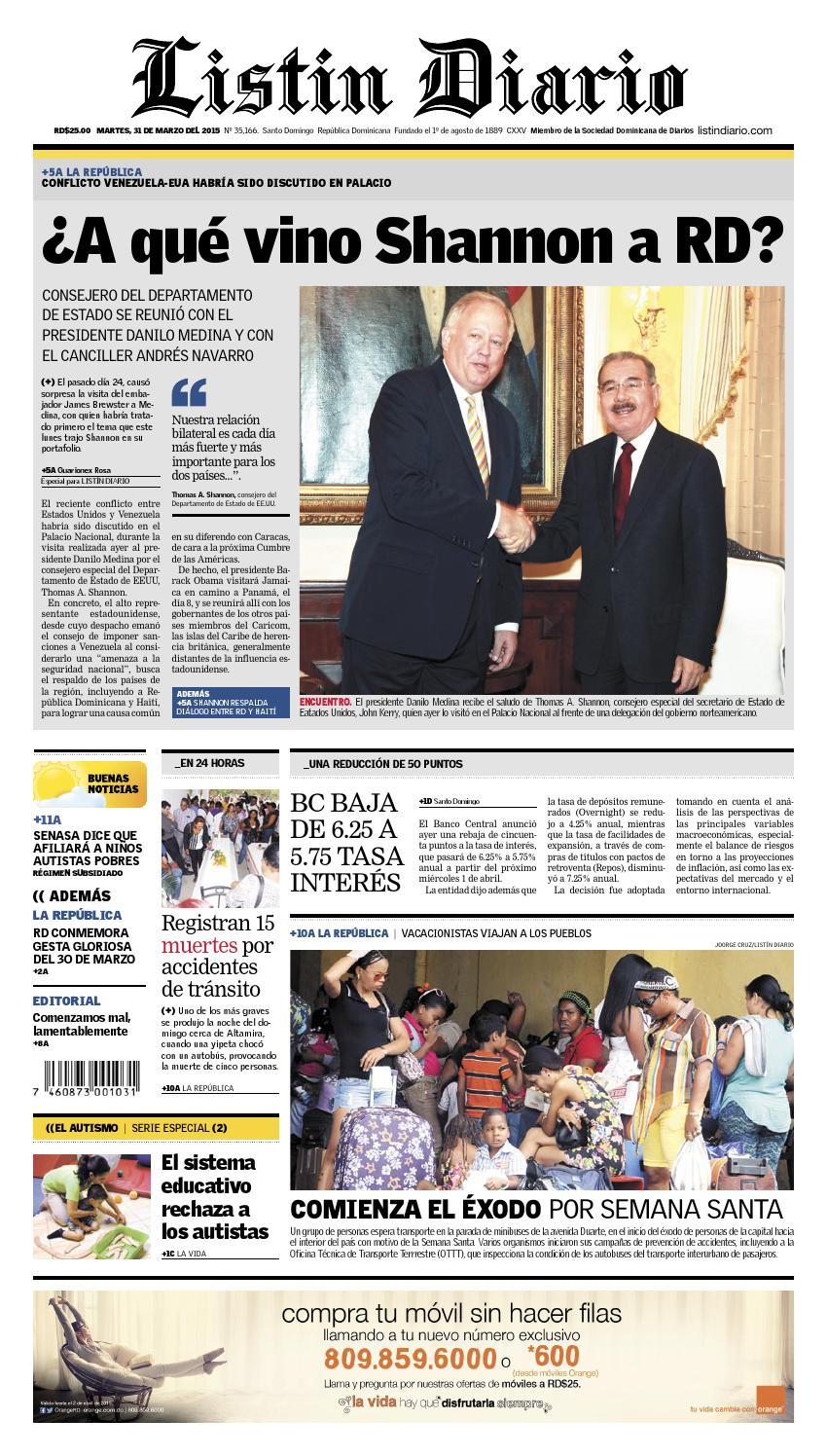 LD 2015-03-31 by Listín Diario - issuu