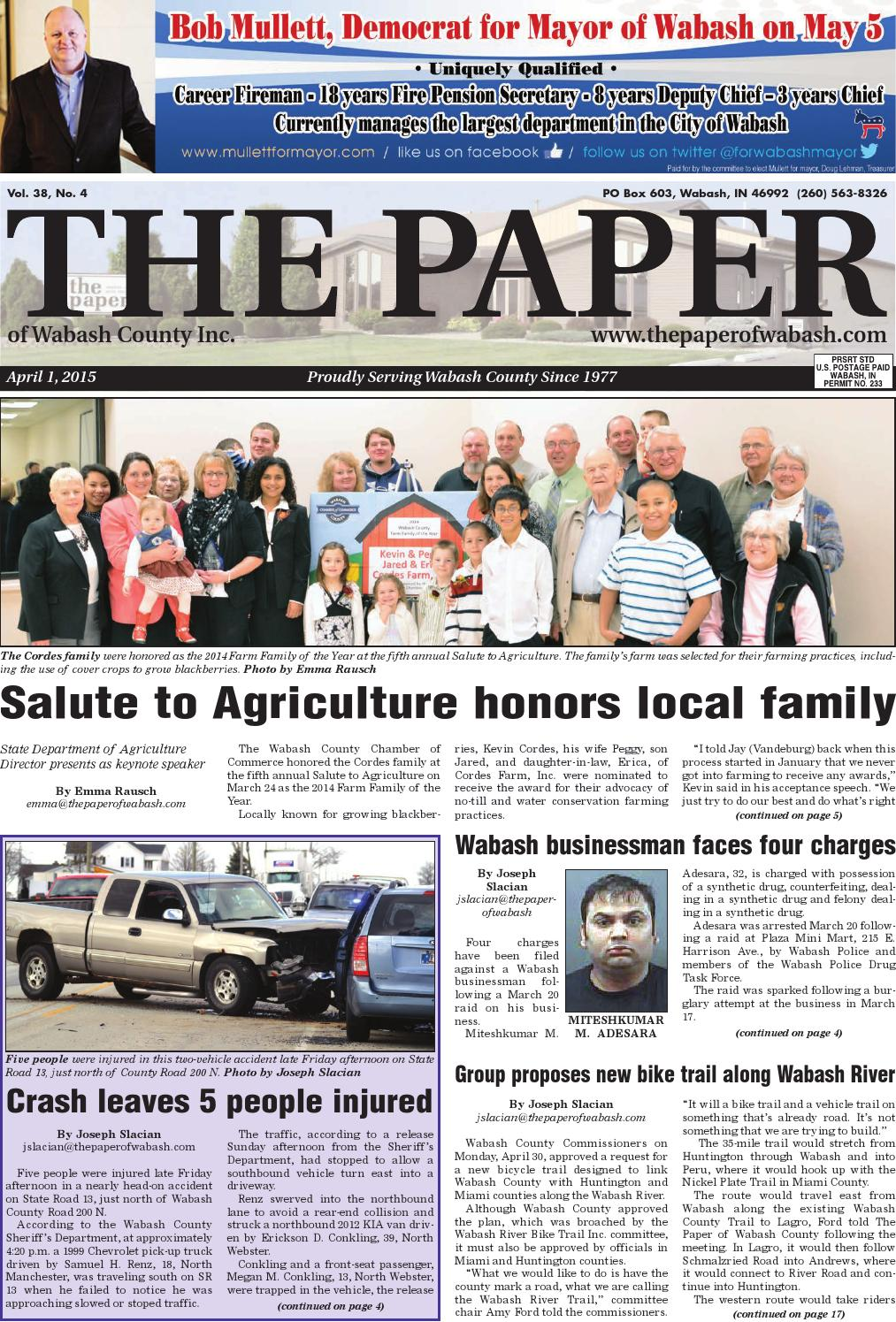 Indiana wabash county lagro - The Paper Of Wabash April 1 2015 Issue By The Paper Of Wabash County Issuu