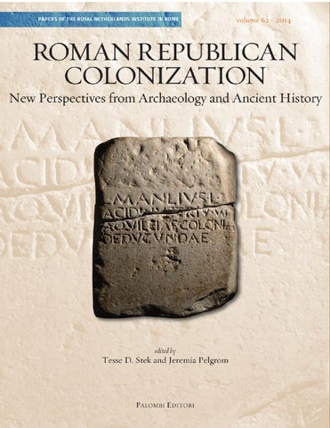 53f2602581c Roman Republican Colonization. New Perspectives from Archaeology and ...