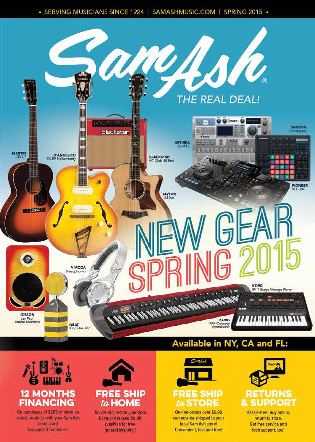 Spring 2015 Sam Ash Gearguide By Music Corp Issuu Humbucker Wiring Diagram Af55 Artcore