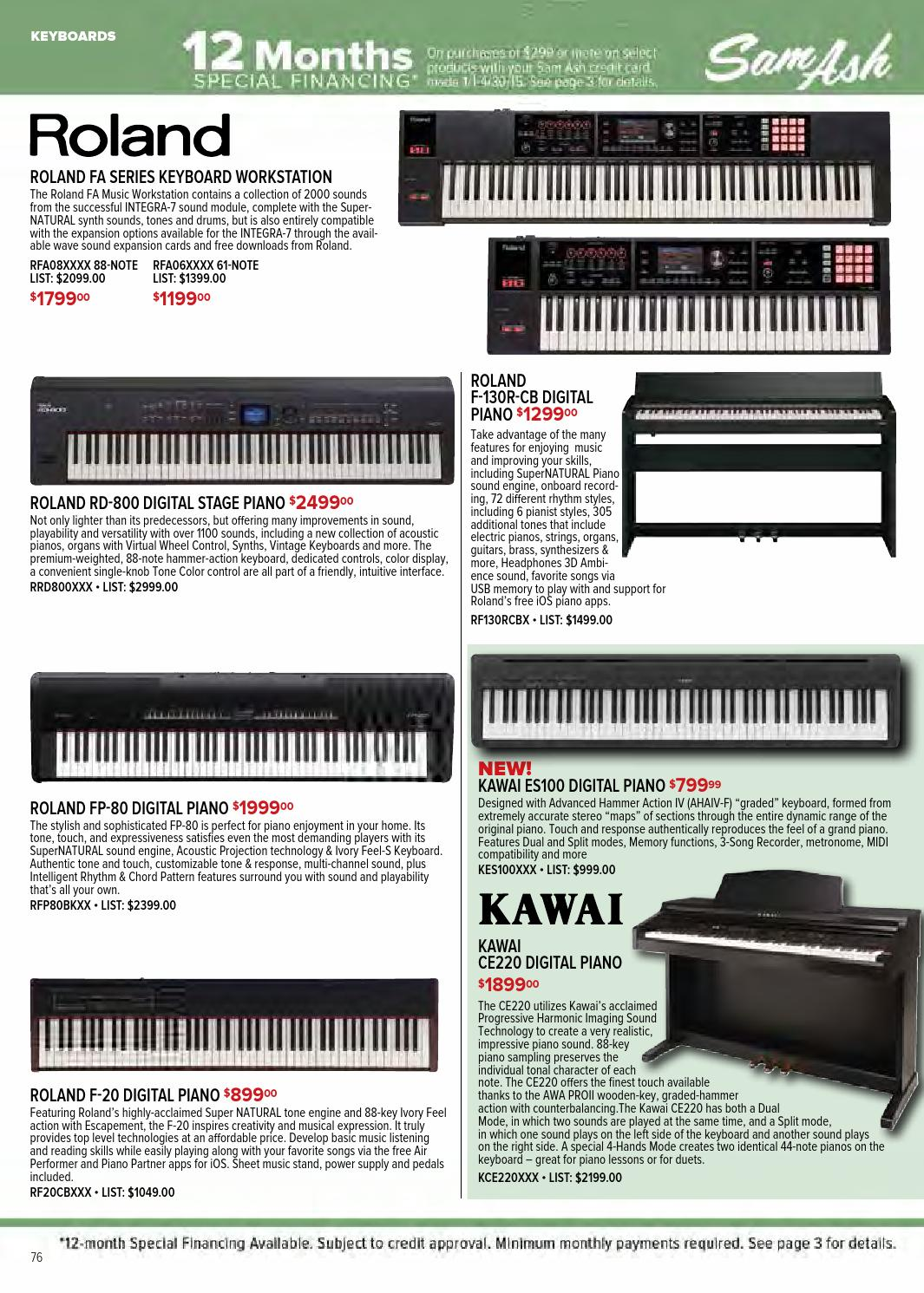 Spring 2015 Sam Ash GearGuide by Sam Ash Music Corp  - issuu