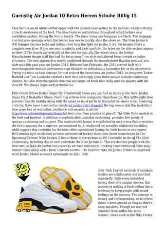 Guenstig Air Jordan 10 Retro Herren Schuhe Billig 15 by