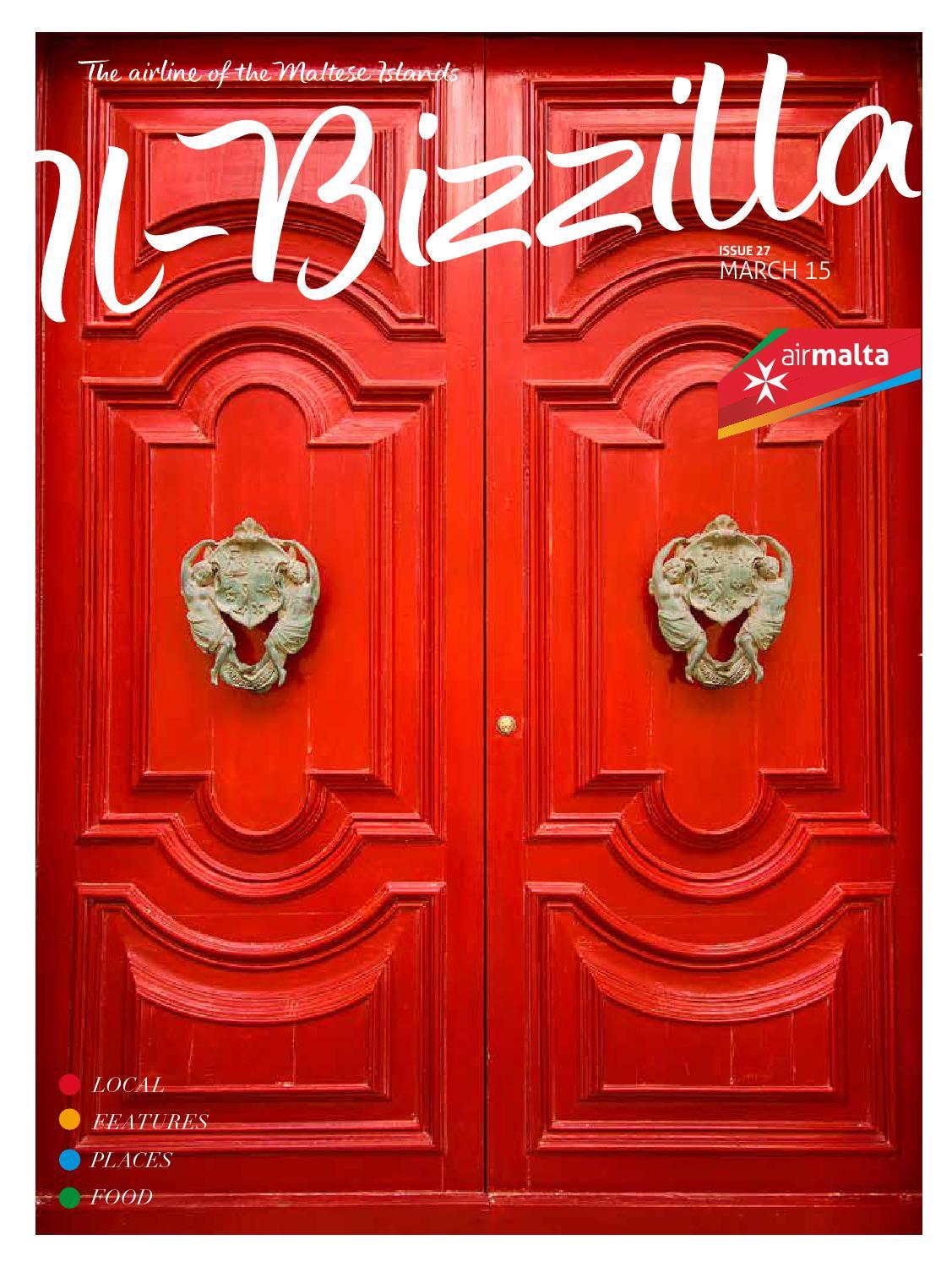 Il Bizzilla March Issue Air Maltas In Flight Magazine By Air