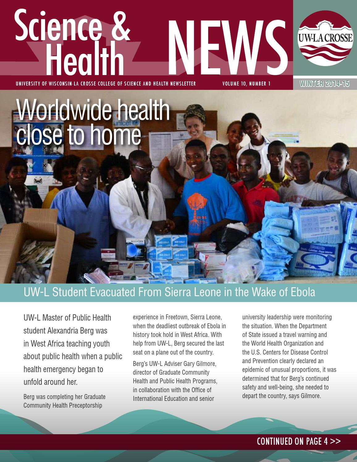 Berg katherine physical therapy - Uw La Crosse Csh Science Health Winter 2014 15 By University Of Wisconsin La Crosse Issuu