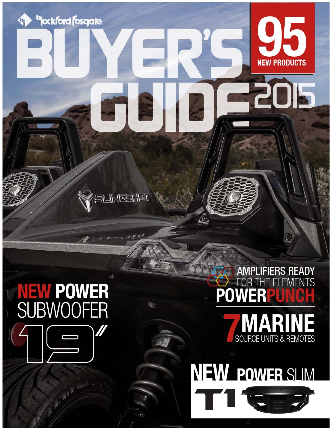 2015 Volume7 Buyers Guide By Rockford Fosgate Issuu Rfk1d Dual Amp 0 Gauge Awg Wiring Kit Car Audio Direct