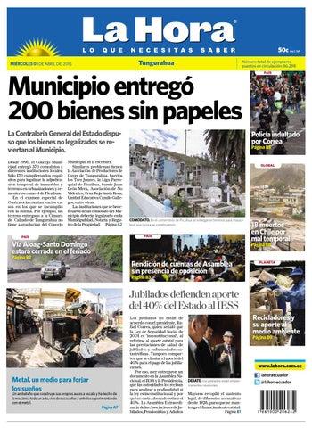Ambato01abril2015 by Diario La Hora Ecuador - issuu e8720c8c6c4