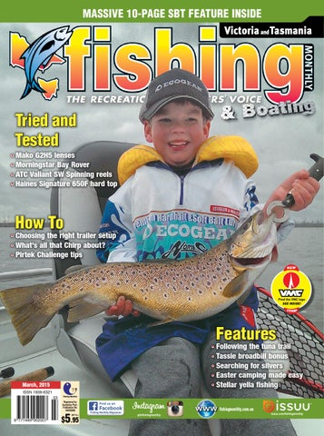 dfc369b42d Victoria and Tasmania Fishing Monthly - March 2015 by Fishing ...