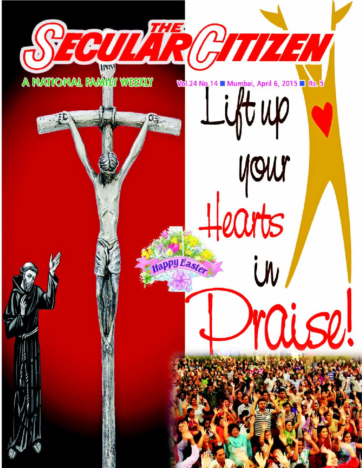 Secular Citizen Vol.24 No.14 dated 6 April 2015 by Lawrence Coelho ...