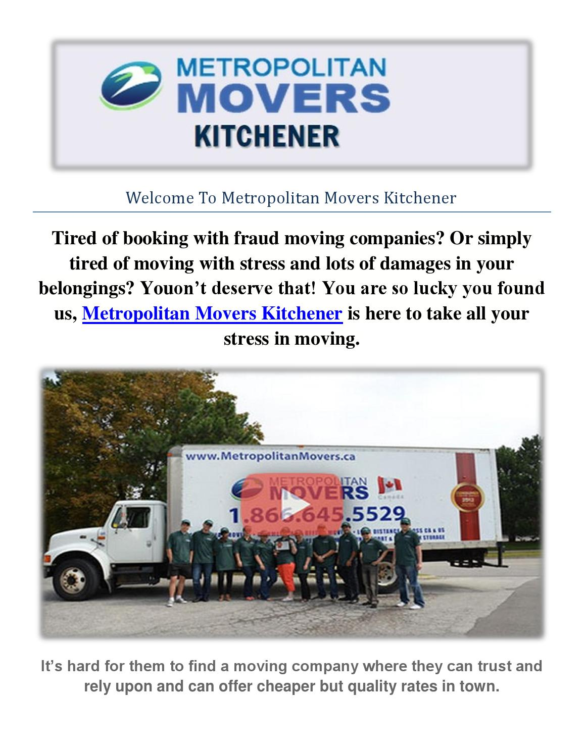 Best moving service metropolitan movers kitchener by Metropolitan ...